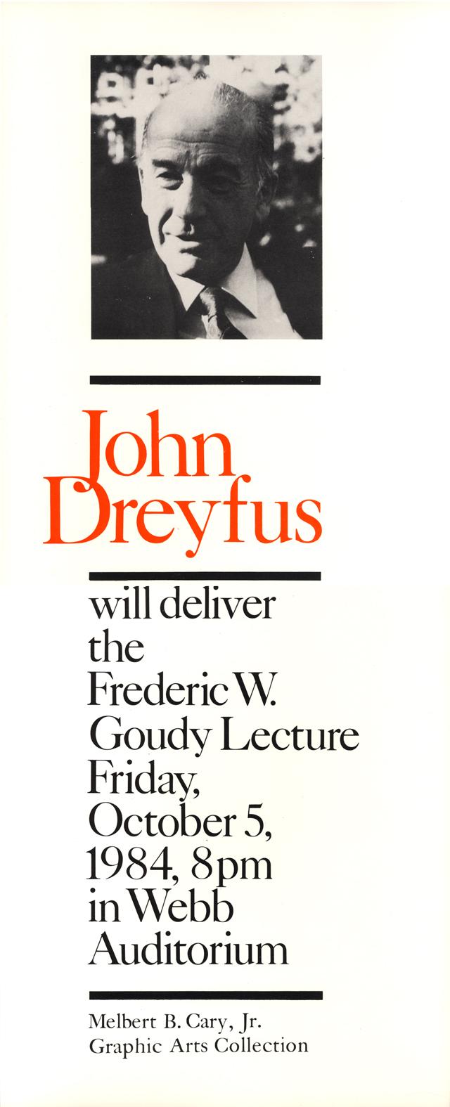 JohnDreyfusGoudyLecturePoster640